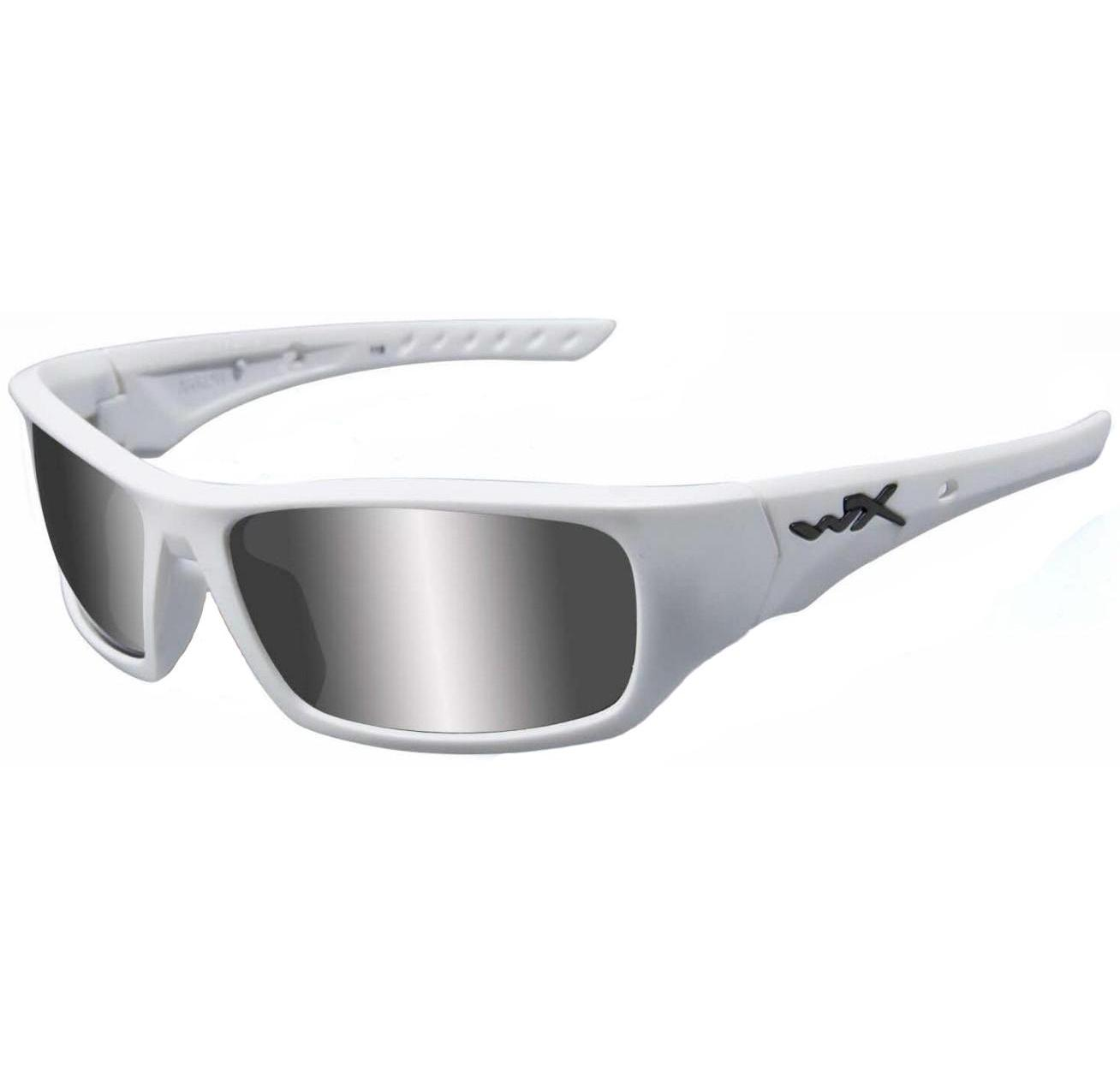 d3305bb8b63 Buy Wiley-x Arrow Polarized Matte White silver Flash Lens Sunglass ...