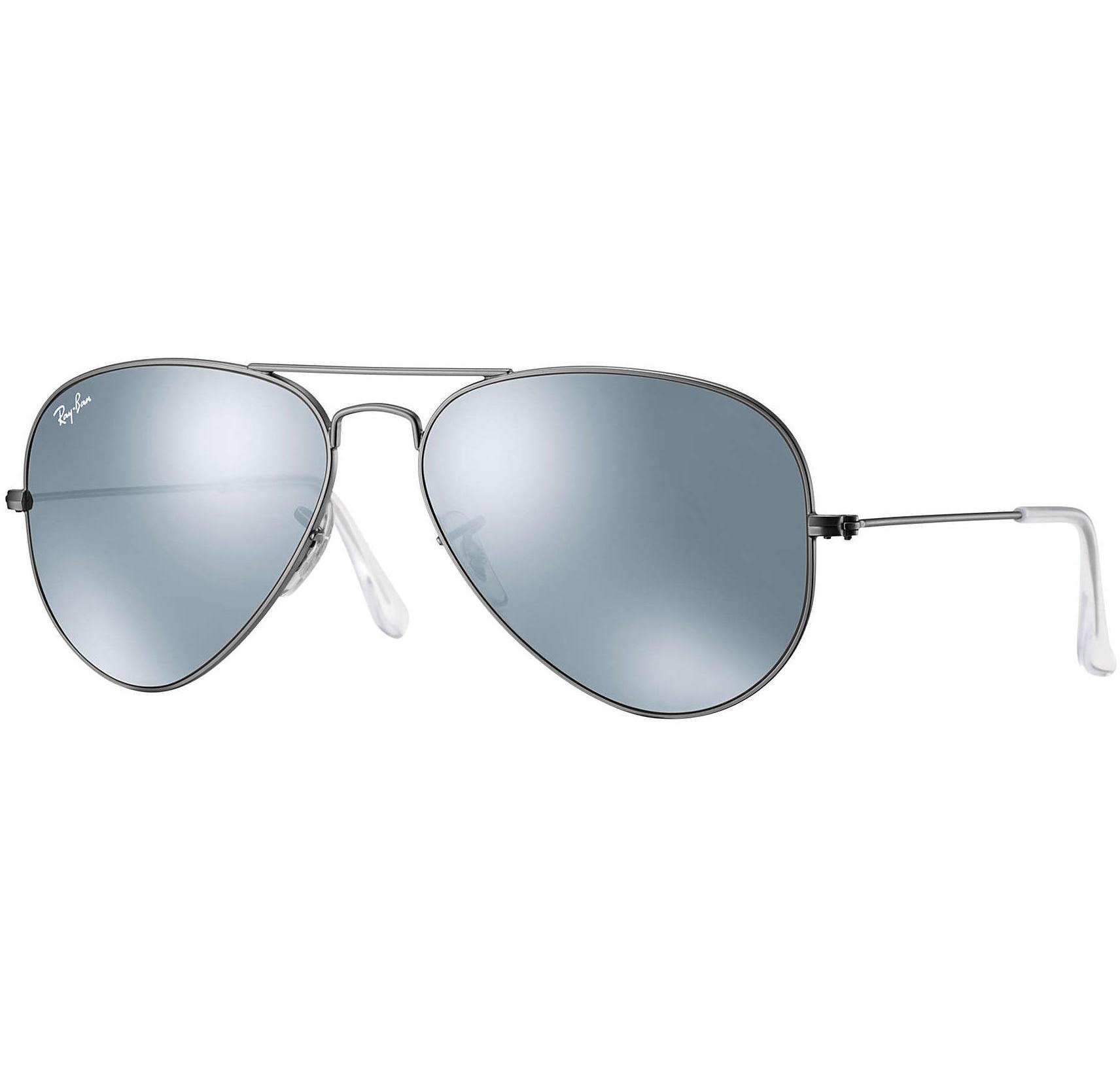 2b60cfaa9f3 Buy Ray-ban Aviator Gunmetal silver Flash Lens in Dubai at cheap price