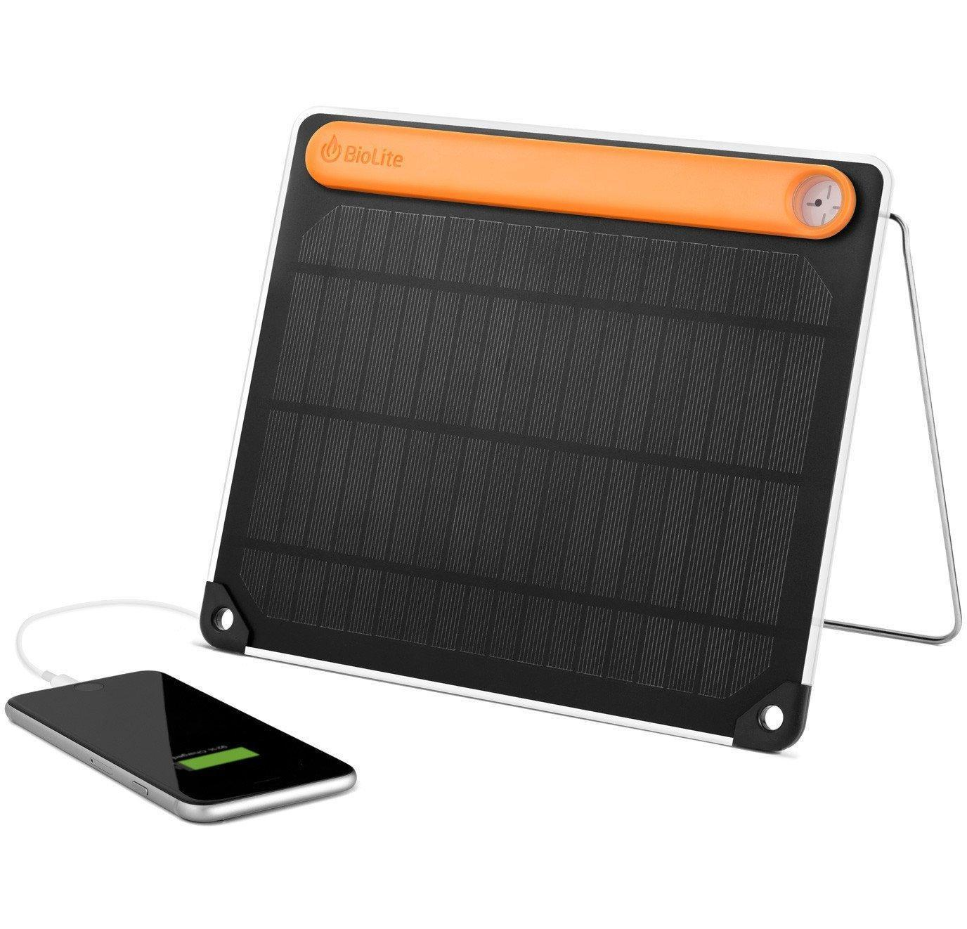 BioLite Solar Panel 5+ Charger with Charge Input and USB Outputs